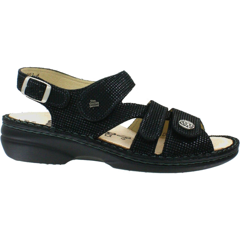 Finn Comfort Gomera Black Points Womens Ankle Strap Size 40M