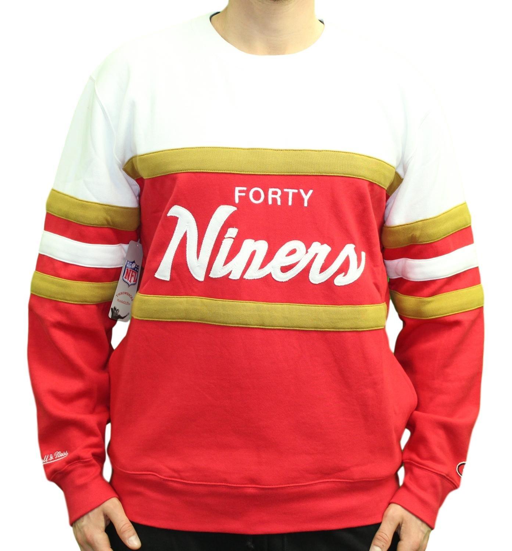 a645f06db2b0d Amazon.com : Mitchell & Ness San Francisco 49ers Head Coach Crew Sweater :  Sports & Outdoors