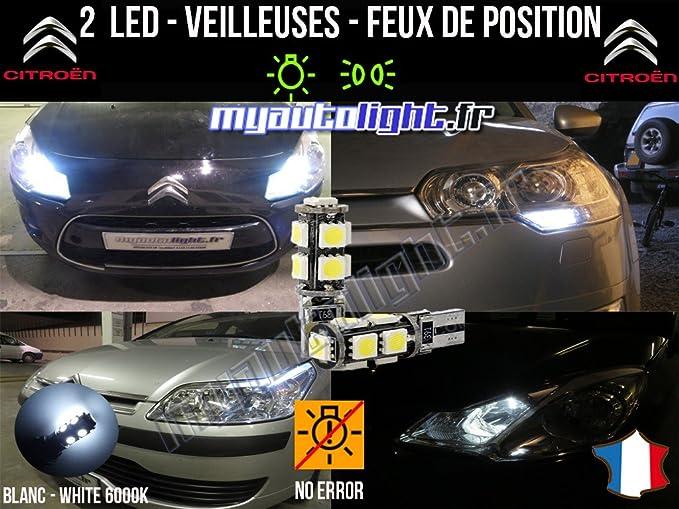 Bombillas Luz de posición LED – Citroen C4 Coupé- W5W Blanco xenón: Amazon.es: Coche y moto