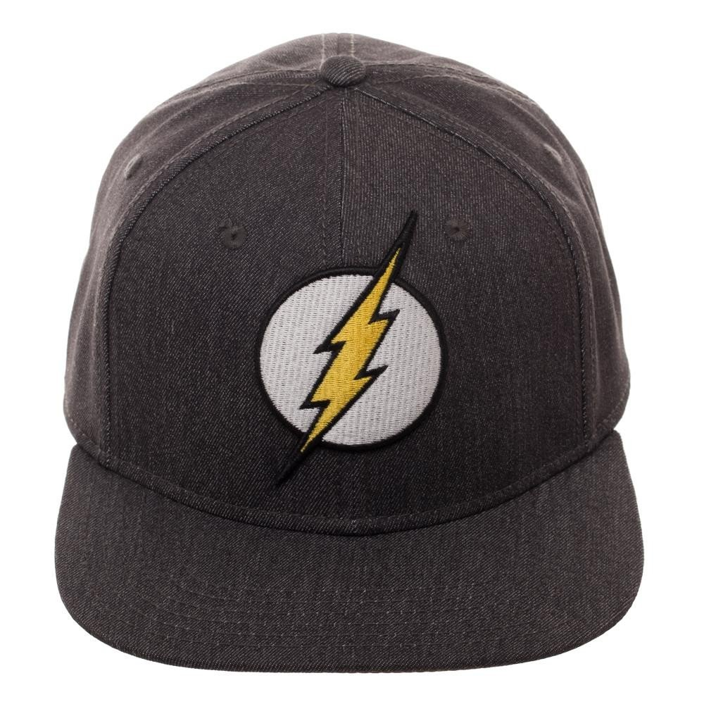 Amazon.com  Bioworld DC Comics Flash Logo Flatbill Flex Cap Black  Clothing 40cc8826d0a8