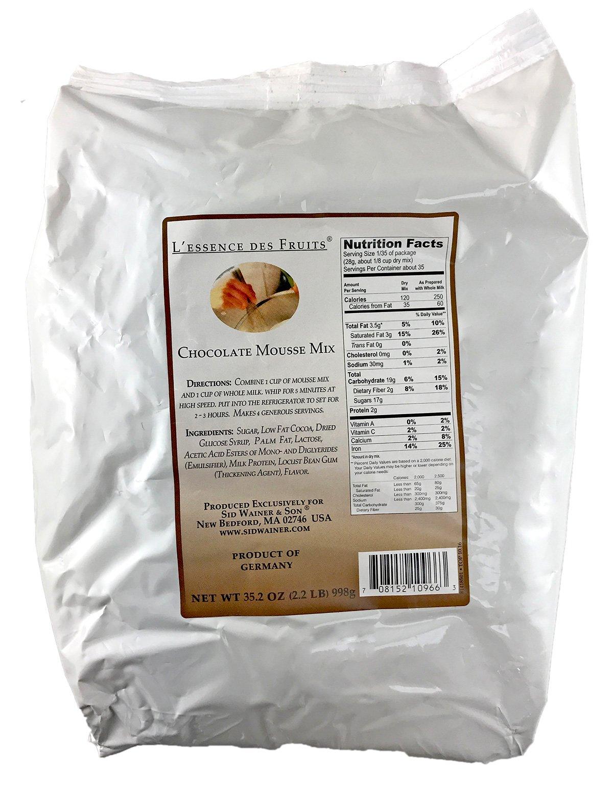 L'essence des Fruits Chocolate Mousse Mix, 2.2 Pound