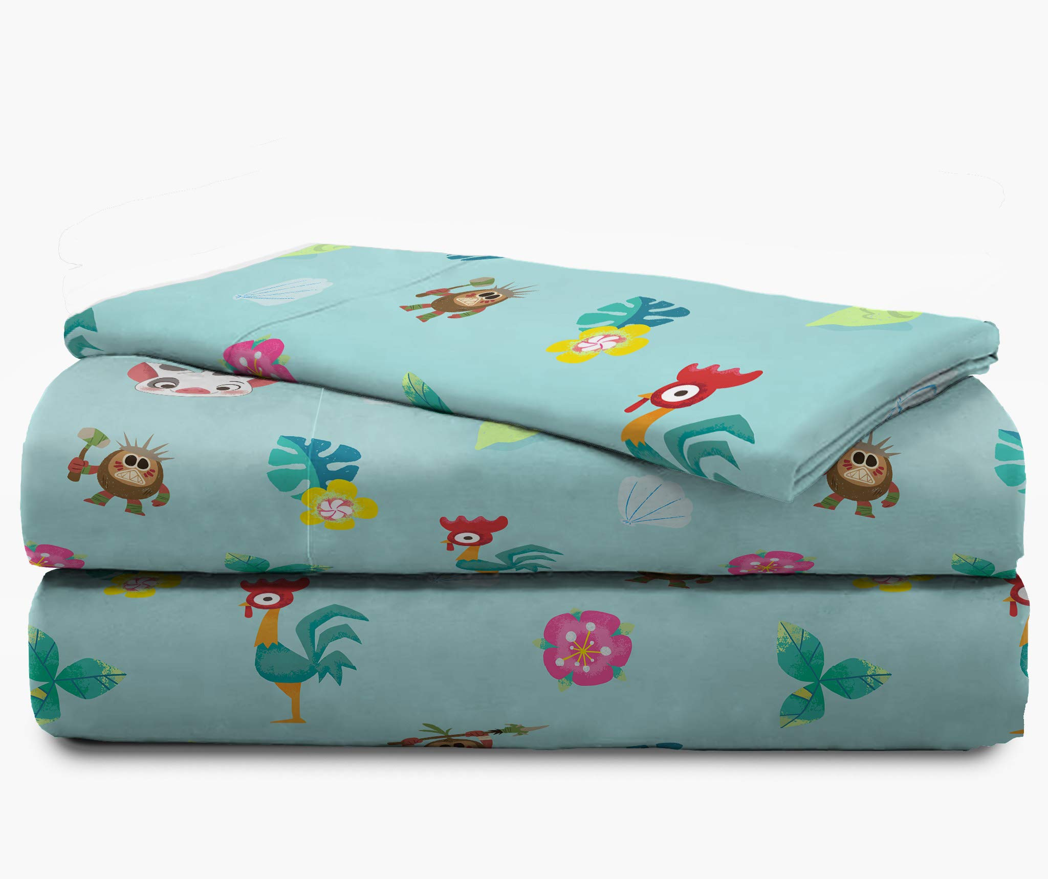 Jay Franco Disney Moana Flower Power 4 Piece Twin Bed Set - Includes Reversible Comforter & Sheet Set - Super Soft Fade Resistant Polyester - (Official Disney Product) by Jay Franco (Image #4)