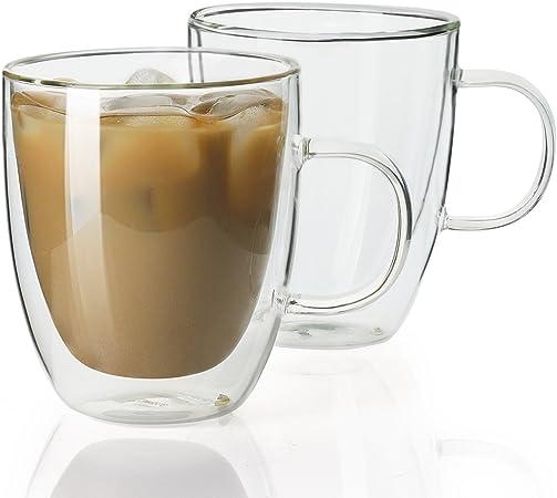 Amazon.com: Sweese - Juego de tazas de café de cristal con ...