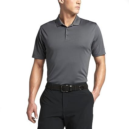 493a88b3 Amazon.com : NIKE Men's Dri-Fit Golf Solid Polo Shirt (Dark Gray, Large) :  Sports & Outdoors