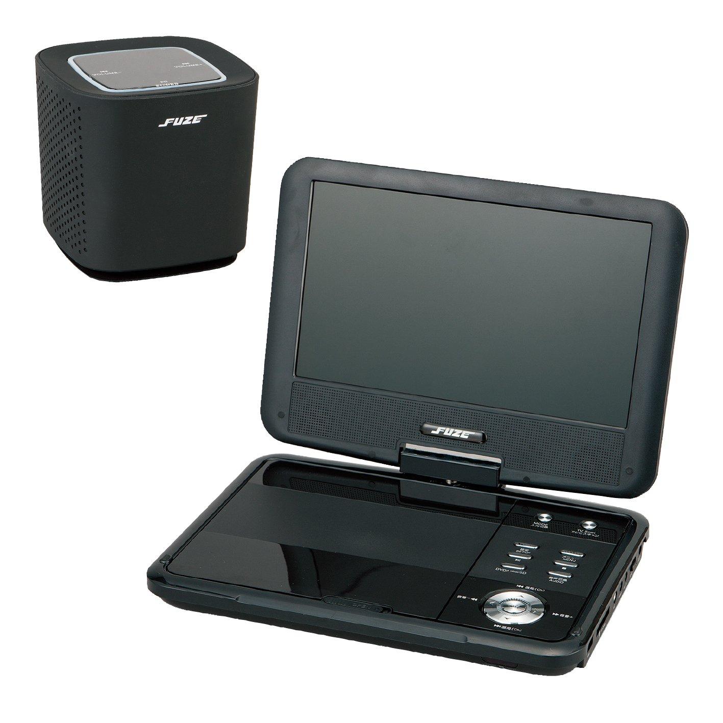 DVDプレーヤーとスピーカー (ブラック) B0728GDH8B ブラック