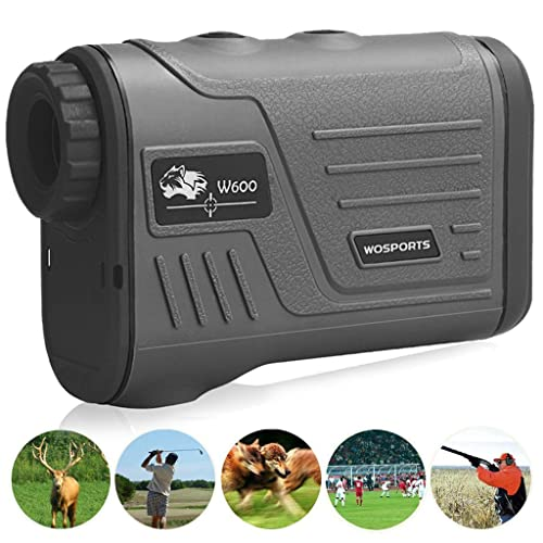 Wosports Golf Rangefinder Laser Hunting Range Finder with Flagpole Lock - Ranging - Speed Function 5-700 Yard