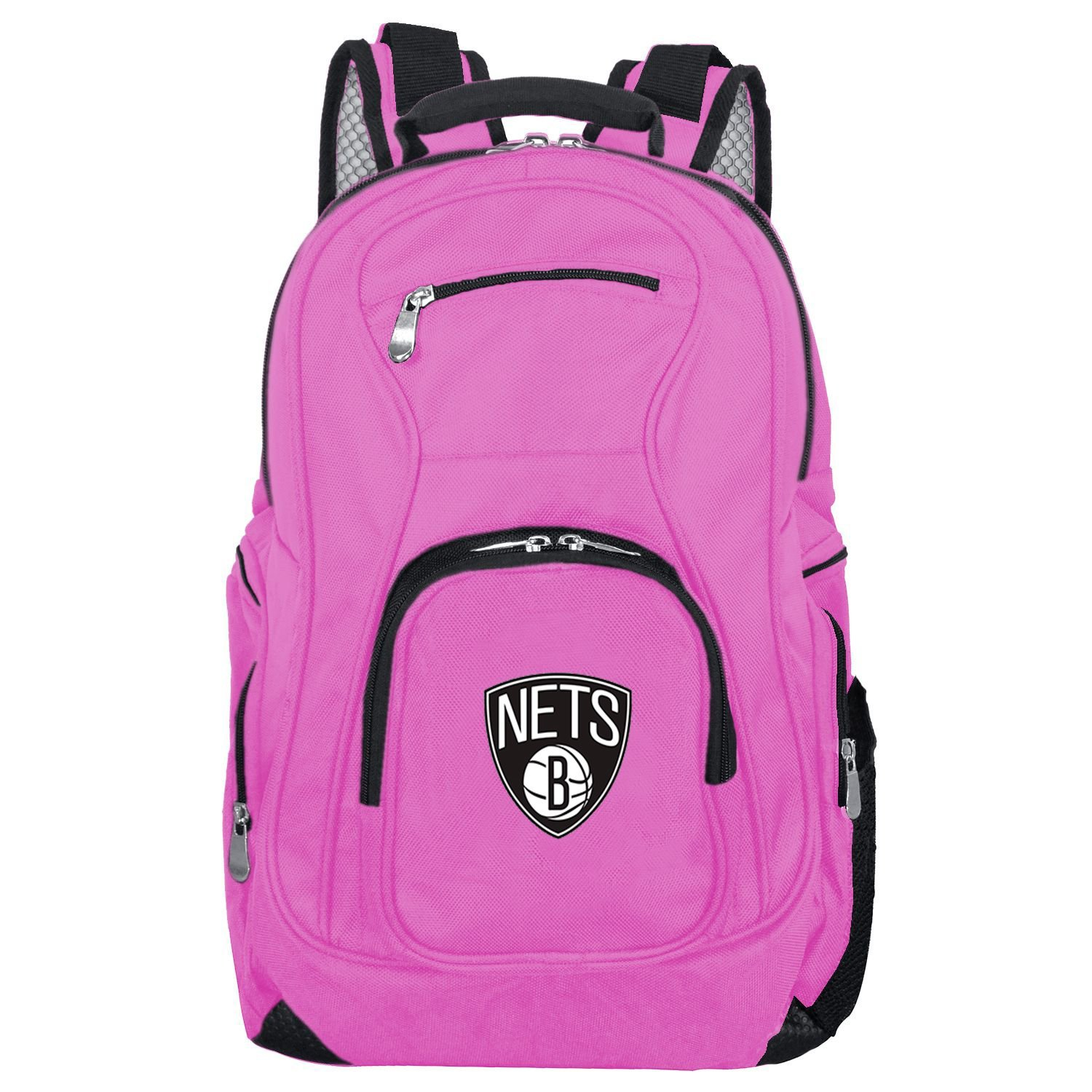 NBA Brooklyn Nets Voyager Laptop Backpack, 19-inches, Pink
