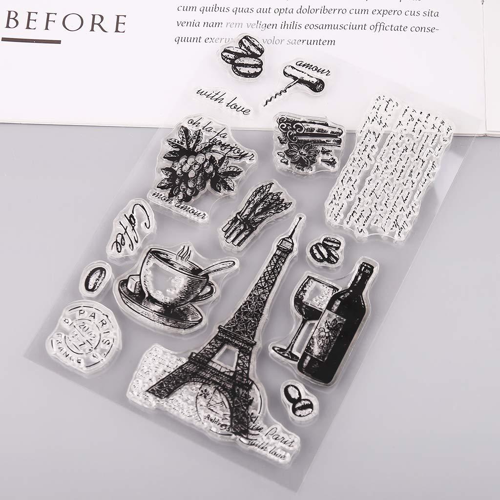A0127 Paris Torre Eiffel Silicone Clear Seal Timbro DIY Scrapbooking goffratura Album Foto Decorazione Carta Artigianato Arte Regalo Fatto a Mano