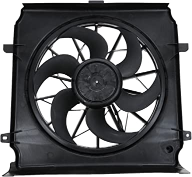 Radiator Cooling Fan Assembly w// Air Conditioning for 04-05 Jeep Liberty V6 3.7L