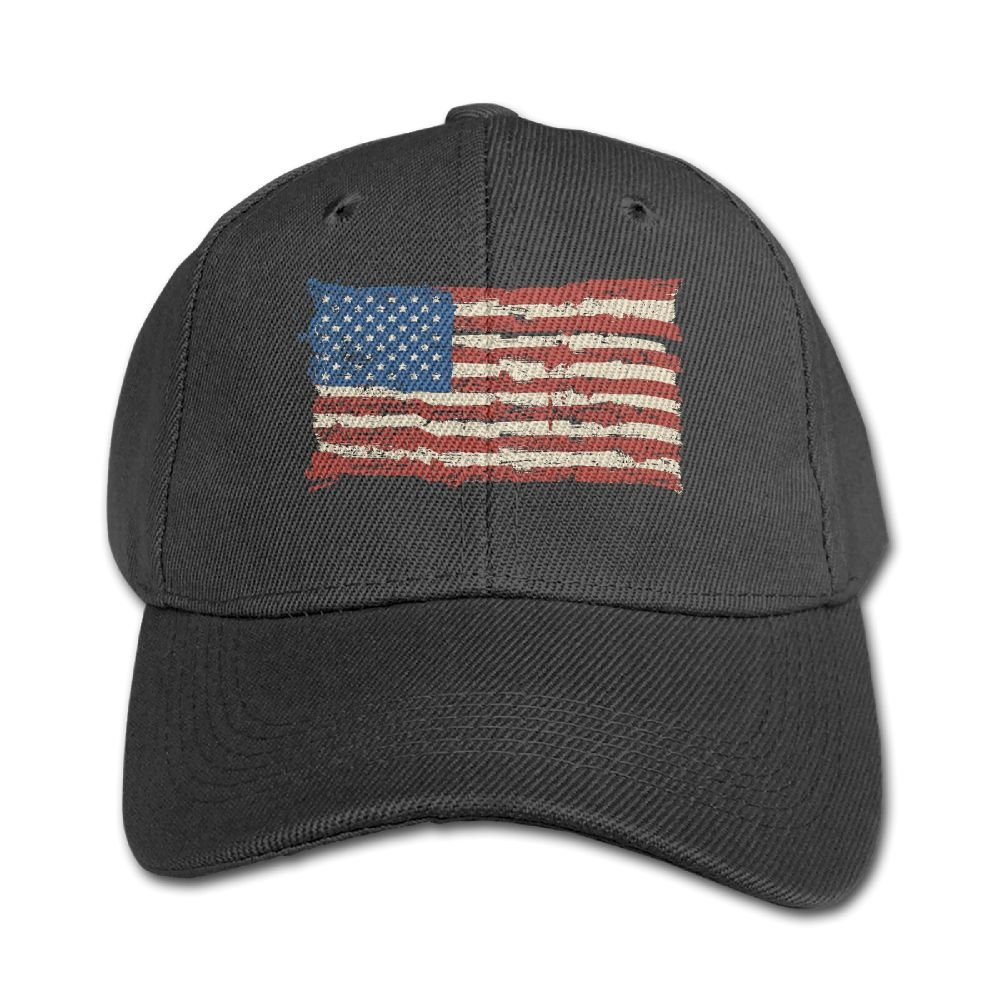 Adjustable Baseball Cap Boys and Girls American Flag 5 Solid Color Hat