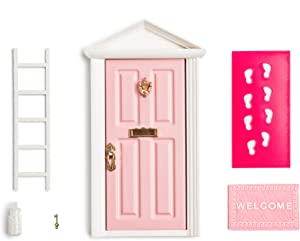 18.5cm Little Magical Fairy Door Opening with Accessories/Tooth Fairy Door For Fairy Tale Education Learning Toy Pretend Playset for Kids DIY Fairy Garden