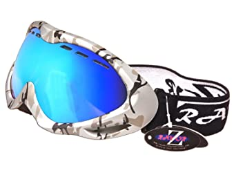 snowboard goggles isgh  Rayzor Professional UV400 Double Lensed Ski / SnowBoard Goggles, With a  Silver Camouflage Frame and