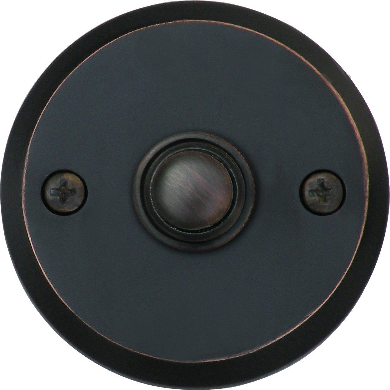 Knoxx Hardware BP5BBXORB Oil Rubbed Bronze 2.5'' Metro Round Door Bell Button, 1-Pack