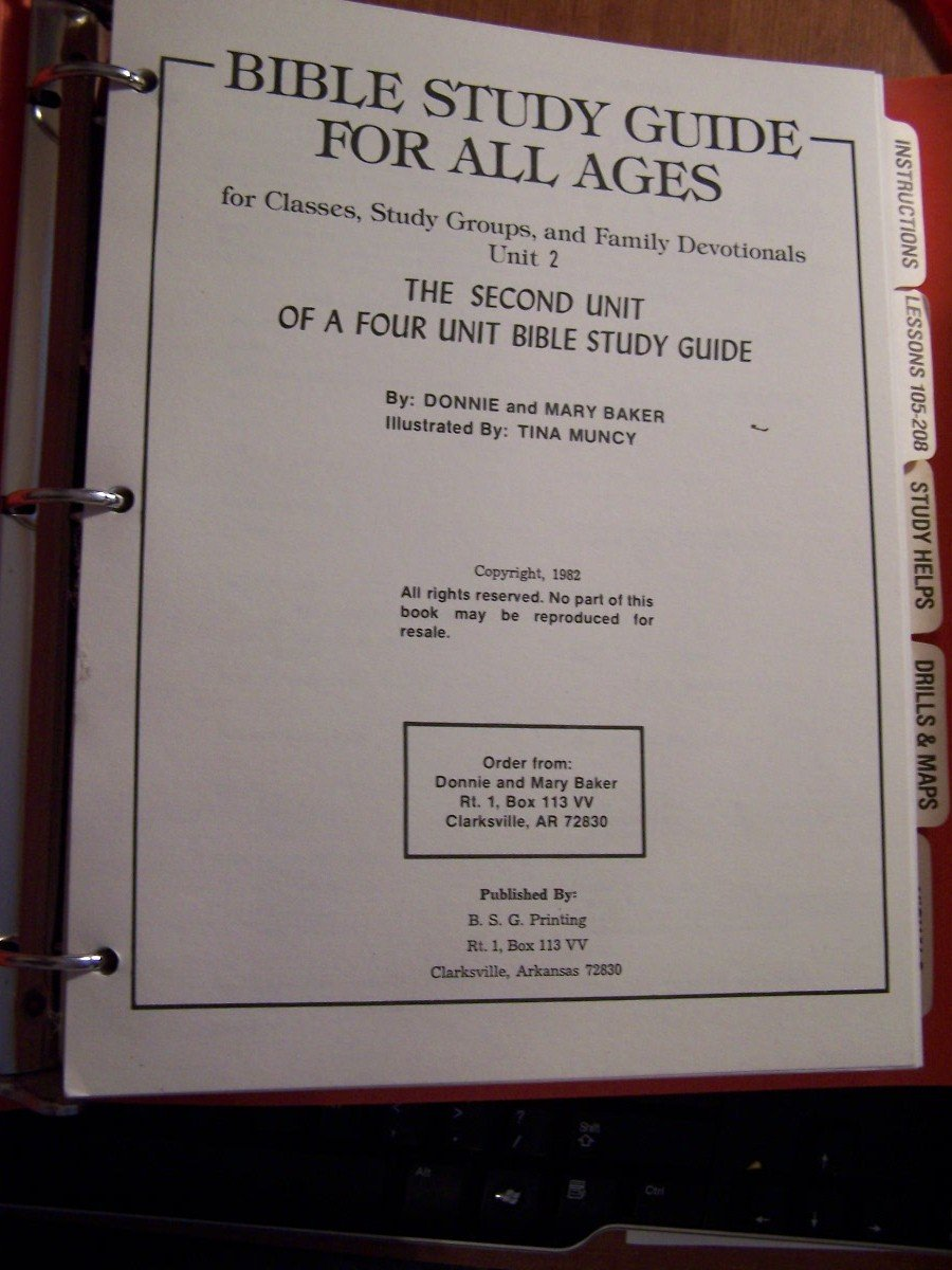 Bible Study Guide for All Ages Unit 2 Unknown Binding 1982