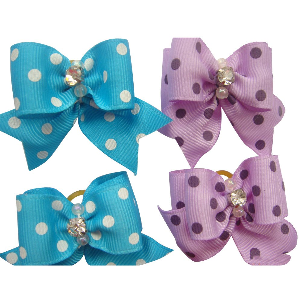 20 Pcs Pet Grooming Hair Bow Ribbon Gift Headdress Flower Hair Accessories for Dog Cat Puppy by Gozier (Image #2)