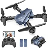 SNAPTAIN A10 Mini Foldable Drone with 720P HD Camera FPV WiFi RC Quadcopter w/Voice Control, Gesture Control, Trajectory Flig