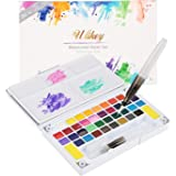 Ulikey Set de Peinture Aquarelle - Boîte d'Aquarelle avec 36 Couleurs + 2 Stylo d'aquarelle + 1 Palette + 2 Eponge de Nettoyage + 5 Papier pour Les Amateurs et Les Artistes Professionnels