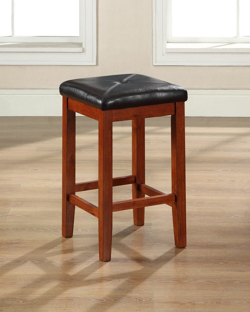 Amazon.com: Crosley Furniture Upholstered Square Seat 24-inch Bar ...