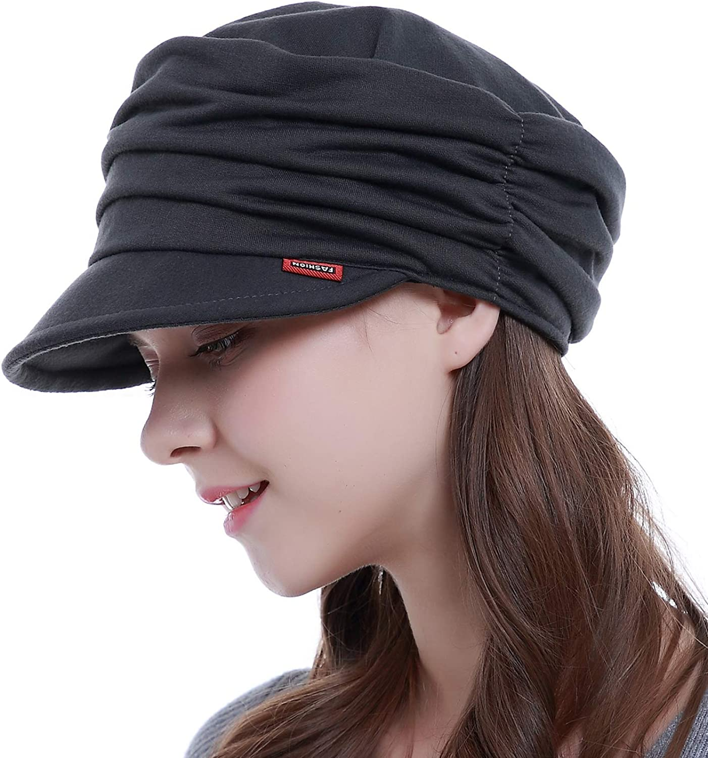HatsCity Fashion Hat Cap with Brim Visor for Woman Ladies, Best for Daily Use