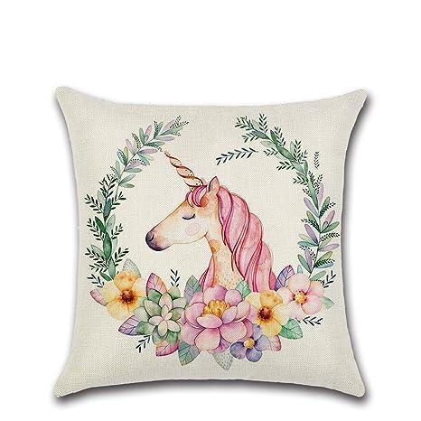 Excelsio Lovely Funda de Almohada en Forma de Unicornio ...