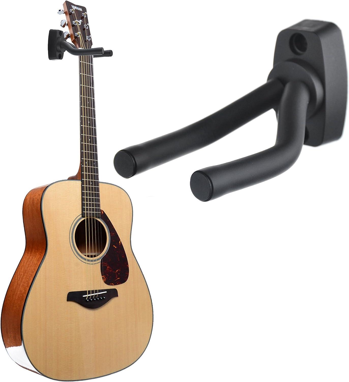 LIMEIJIA 5 Pack Guitar Hangers Black Guitar Wall Hooks Stand Holder Hooks Suitable for Most Guitars