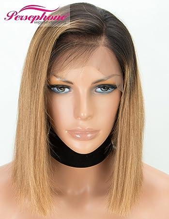 Amazon Com Persephone Silky Straight Bob Wigs Human Hair With Baby