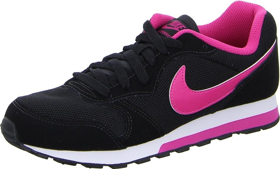 Nike MD Runner 2 (GS), Zapatillas para Niñas, Negro (Black/Vivid Pink White), 38.5 EU: Amazon.es: Zapatos y complementos