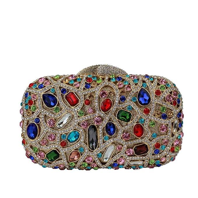 Clutches Embrague De Las Señoras De Lujo Bolsa De Embrague De La Tarde De Cristal: Amazon.es: Ropa y accesorios