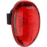 Aglaia Fanale Posteriore Luci Bici a LED, Impermeabile 40 Lumen con Modalità Auto per Sport Ciclismo Notturno, 2 Batterie AAA Incluse. (LT-BL3)