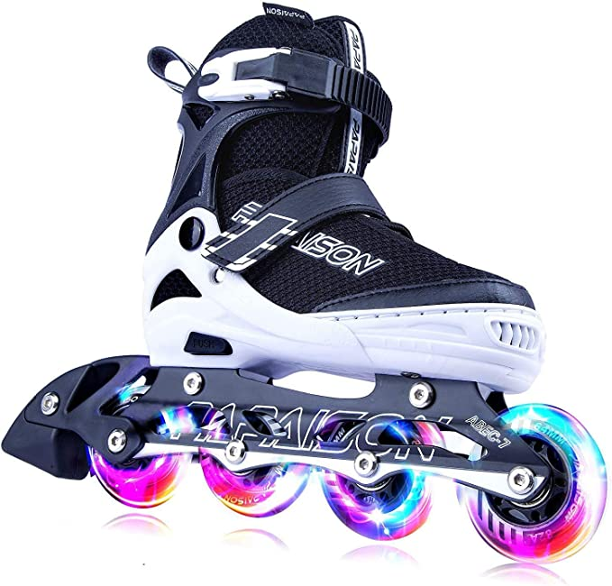 Adjustable Skates for Kids, Teens and Adults with Cool Full Light Up Wheels