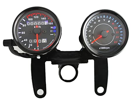 amazon com ambuker 12v motorcycle 13000 rpm tachometer km h rh amazon com