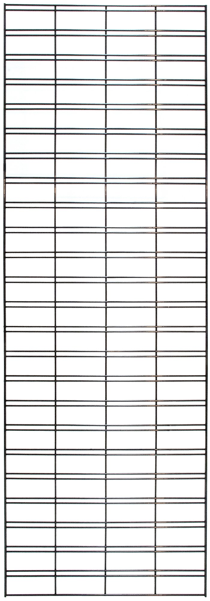 KC Store Fixtures A04253 Slatgrid Panel, 2' x 6', Black (Pack of 3)