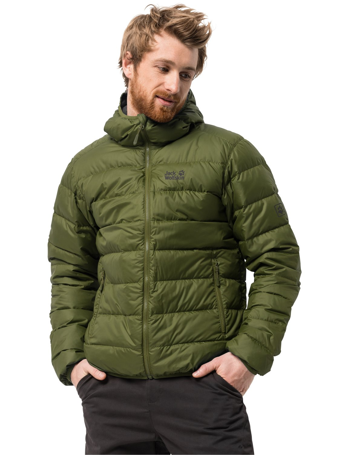 Jack Wolfskin Men's Helium Lightweight Windproof Down Puffer Jacket Jack Wolfskin -- Domestic