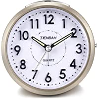 Yadelai Despertador Analógico de Viaje,Silencioso Reloj de Alarma