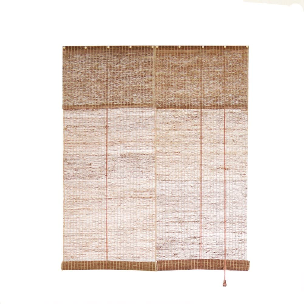 iStaZ Hand Woven Natural Ramie Linen Window Blinds Roller Shades Curtain Drape Natural 15.6 x 82 Inch
