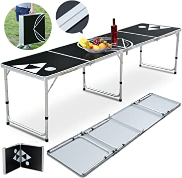 ShopSquare64 - Mesa de Ping Pong portátil de Aluminio para Beber ...