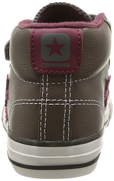 Converse Unisex-Child Star Player Junior 3V Leather Mid I Trainers   Amazon.co.uk  Shoes   Bags 8c3b436da