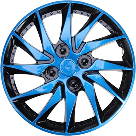 "FAST Green 14/"" Wheel Covers Hub Caps 14 Inch Wheel Trims Trim Set Of 4 Plastic"