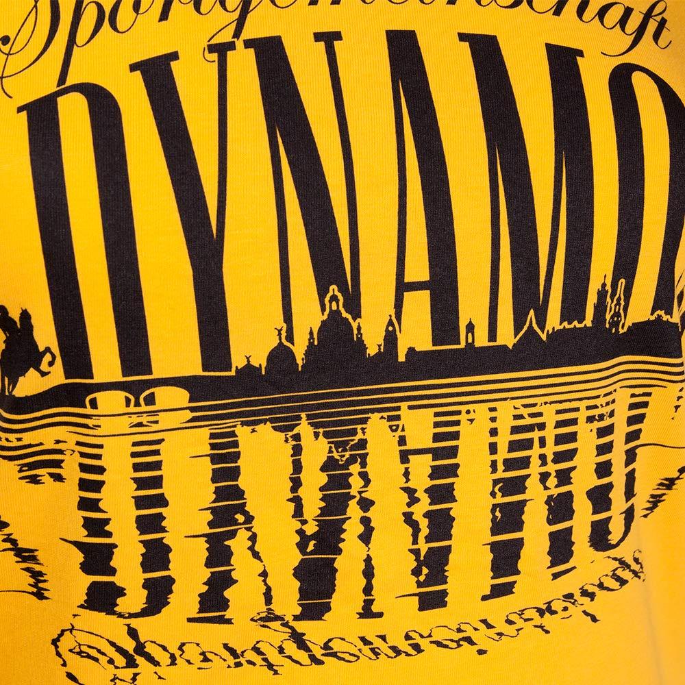SG Dynamo Dresden Damen-Longshirt Silhouette Gelb