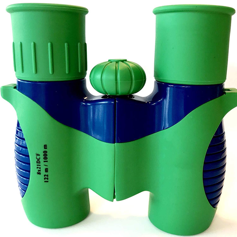 Kids Binoculars 8x21 - Shock Proof Compact Binoculars Toy for Boys and Girls with High-Resolution Real Optics - Bird Watching, Travel, Safari, Adventure, Outdoor Fun