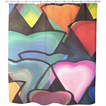 Amazon.com: Uneekee Hearts of Cleavage Shower Curtain: Large ...