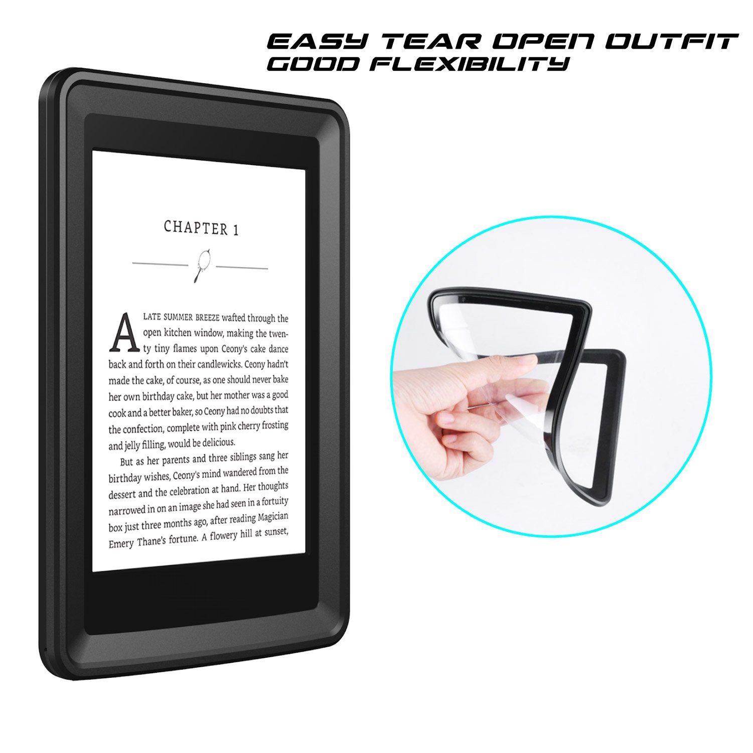 Temdan Kindle Paperwhite Waterproof Case Rugged Sleek Transparent Cover with Built in Screen Protector Waterproof Case for Kindle Paperwhite. by Temdan (Image #5)