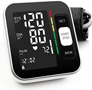 """Blood Pressure Monitor Upper Arm Automatic Digital BP Meter 2x120 Reading Memory Voice Broadcast Large Display with Backlight 8.7""""-15.7""""Wide Range Cuff Fast Reading for Home Use"""
