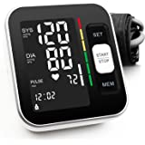 Blood Pressure Monitor Upper Arm Automatic Digital BP Meter 2x120 Reading Memory Voice Broadcast Large Display with…