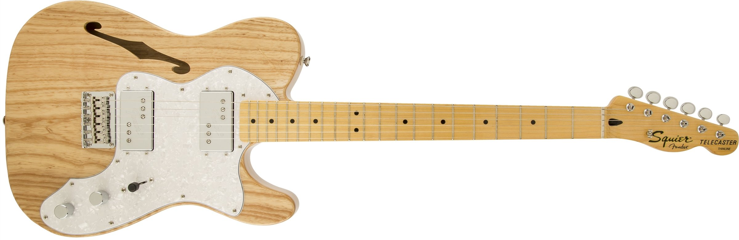 Squier by Fender 301280521  Vintage Modified '72 Telecaster Electric Guitar Thinline - Natural - Maple Fingerboard