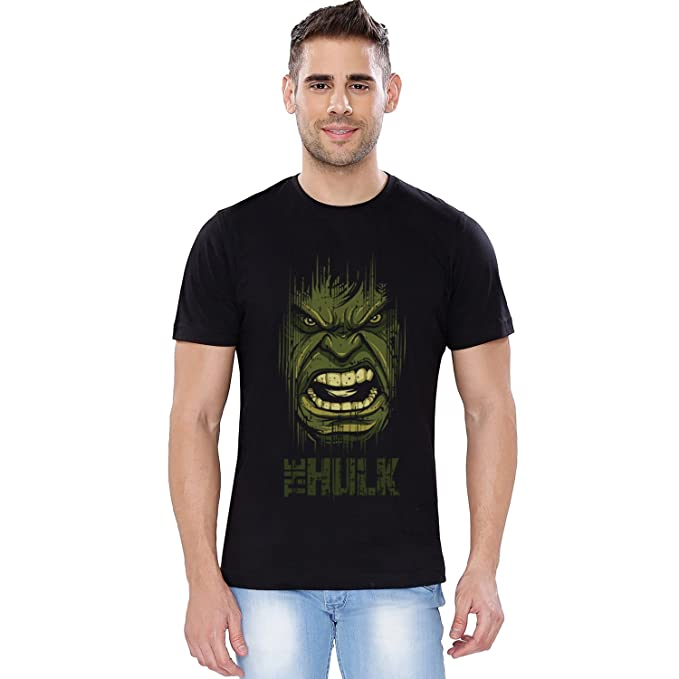 0dc78b24 Image Unavailable. Image not available for. Colour: The Souled Store Marvel  Avengers: Face Superhero Cotton T-Shirt for Mens from