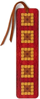 product image for Wooden Bookmark with Suede Tassel - Craftsman Pattern 01 Design by Mitercraft - Also Available Personalized