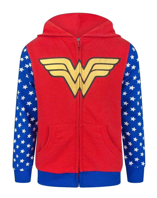 Wonder Woman Logo Girl's Zip-Up Hoodie