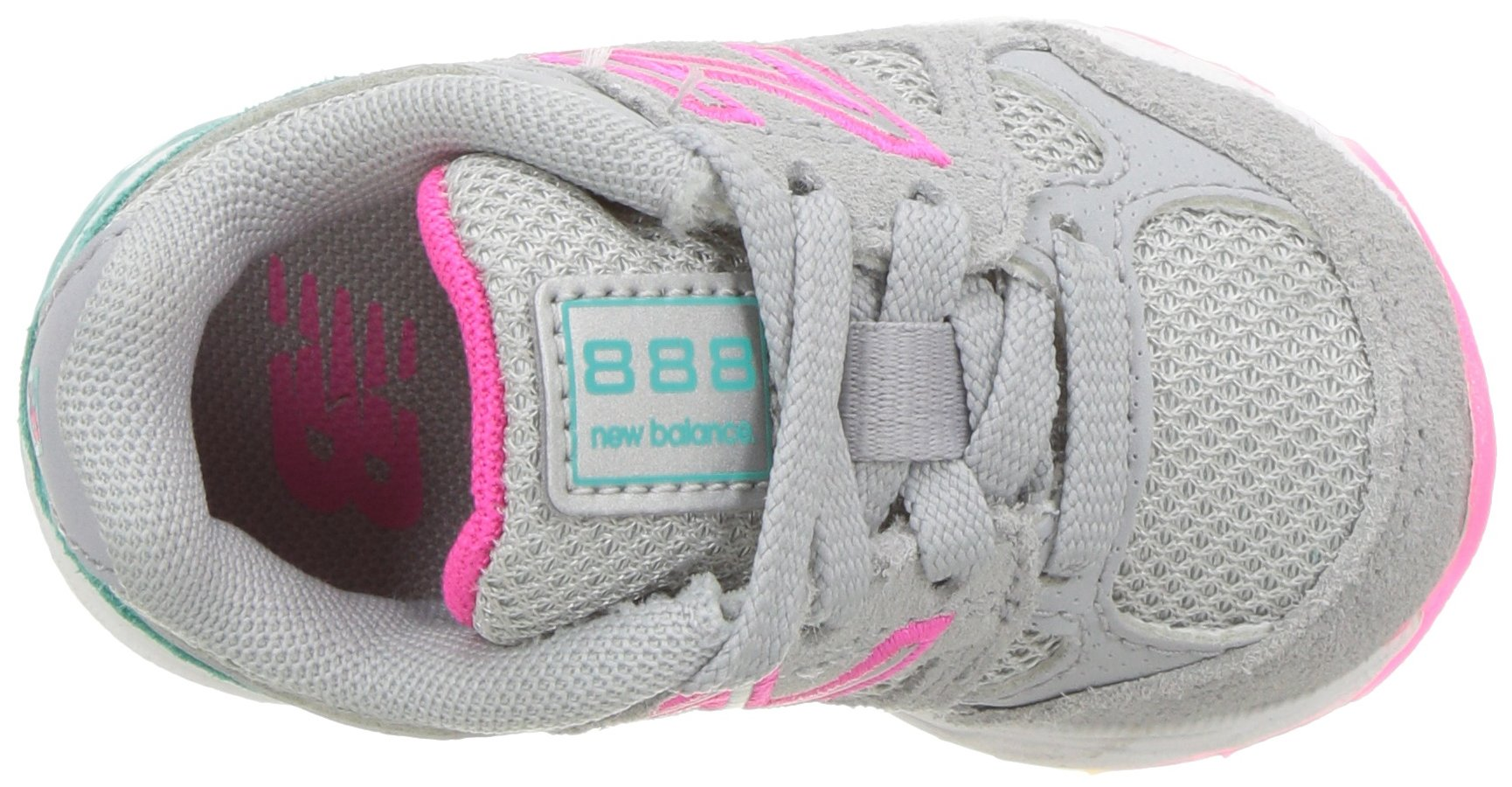 New Balance Girls' 888v1 Running Shoe, Silver Mink/Rainbow, 6 W US Big Kid by New Balance (Image #8)