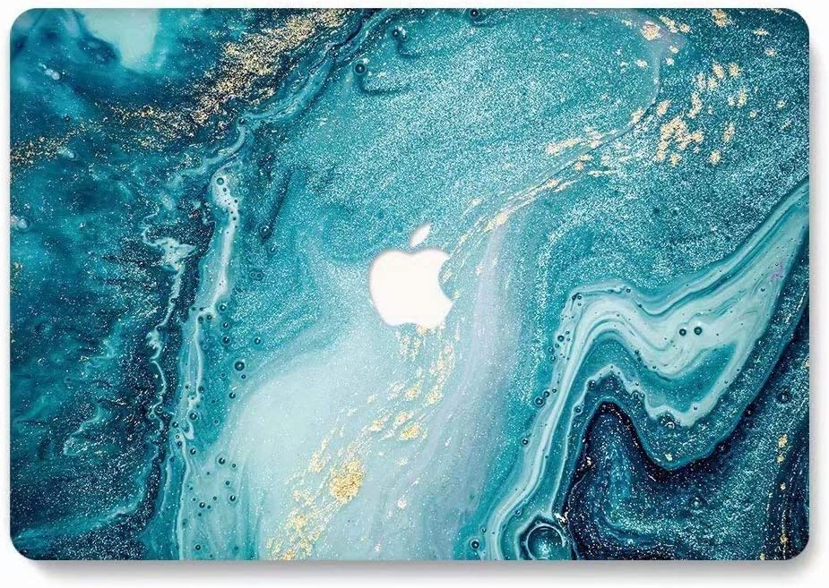 MacBook Air Case, AQYLQ Landscape Pattern Rubber Coated Plastic Protective Cover Hard Case for Apple Laptop MacBook Air 13 inch Model A1369 / A1466 - Creative Wave